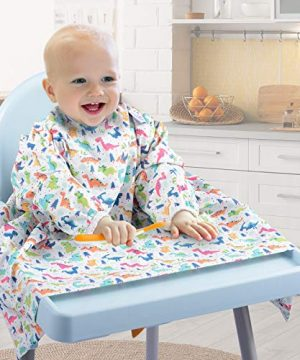 Baby Weaning Bib Highchair Cover Attached