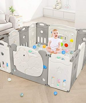 Foldable Baby Playpen, Dripex Safety Baby Gate Play Yard