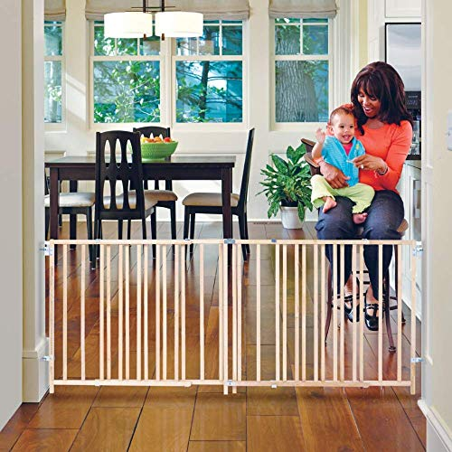 """Toddleroo by North States 103"""" Wide Extra Wide Swing Baby Gate"""