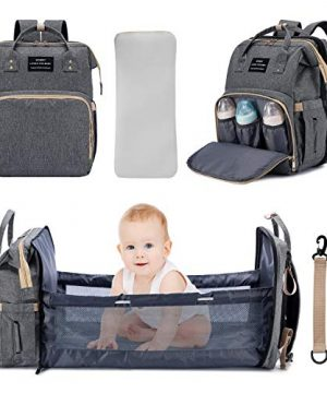 3 in 1 Diaper Bag Backpack Travel Bassinet Portable Baby Bed
