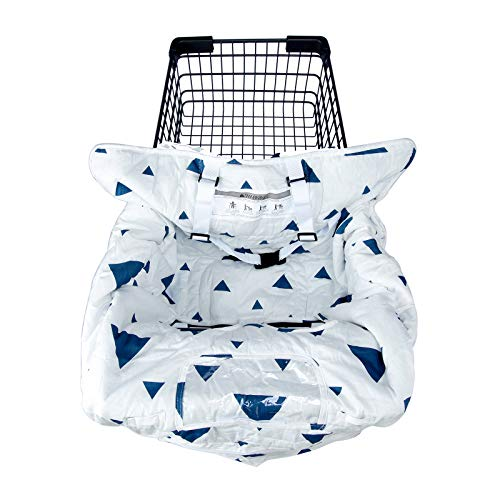 2-in-1 Shopping Cart Cover for Baby, Machine Washable Cotton