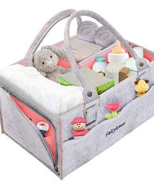 Baby Diaper Caddy Organizer Nursery Storage Bin Basket