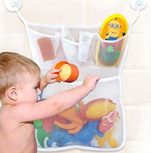 Bath Toy Holder Organizer, Extra Durable Washable Bath Toy Storage