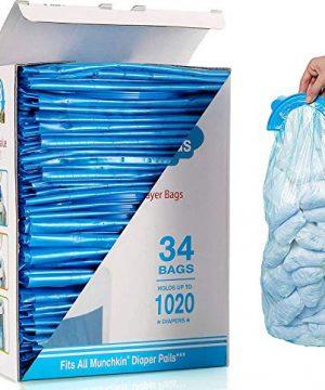 Diaper Pail Refill Bags, Counts, 34 Bags
