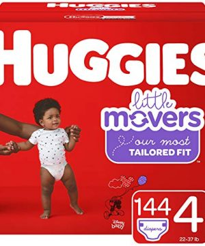 Huggies Little Movers Baby Diapers, Size 4