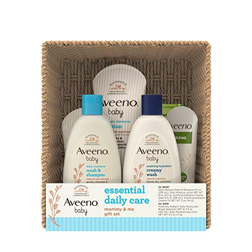 Aveeno Baby Essential Daily Care Baby, Mommy Gift Set