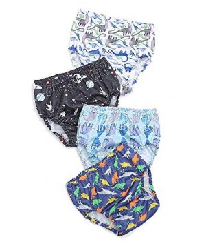 Baby Boys' Waterproof Pants,Soft and Quiet - Plastic Pants for Toddlers
