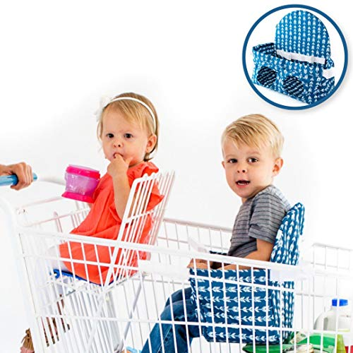 Buggy Bench Shopping Cart Seat Carrier (Navy Blue)