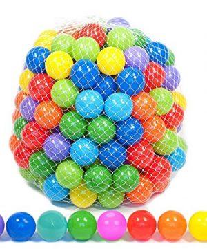 Playz 50 Soft Plastic Mini Play Balls w/ 8 Vibrant Colors