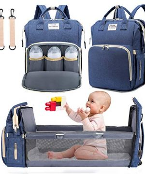 3 in 1 Diaper Bag Backpack with Changing Station