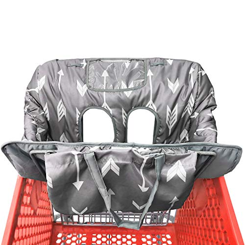Waterproof 2-in-1 Baby Shopping Cart Cover & High Chair