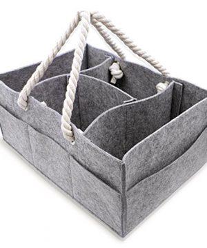 Baby Diaper Caddy Organizer - Large Portable Car Basket