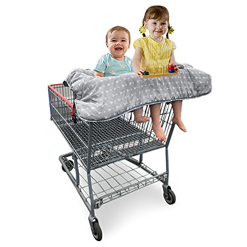 Double Shopping Cart Cover for Twins or Baby Siblings.