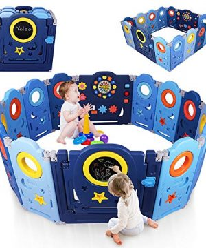 Yoleo Baby Playpen Fences for Toddlers Kids Large Safety Gate