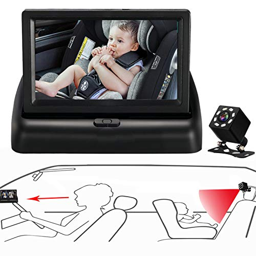 Itomoro Baby Car Mirror, View Infant in Rear Facing Seat