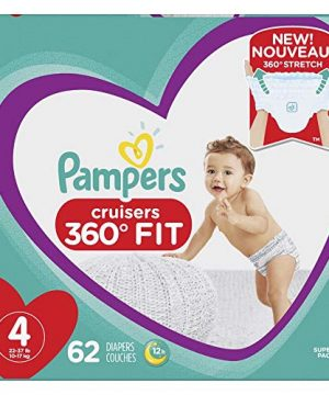 Diapers Size 4, 62 Count - Pampers Pull On Cruisers 360° Fit