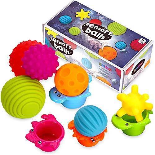 Sensory Balls for Kids - Textured Multi Ball Set for Babies