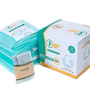 4 Pack Diaper Refill Liners - Compatible with Dekor CLASSIC Refill