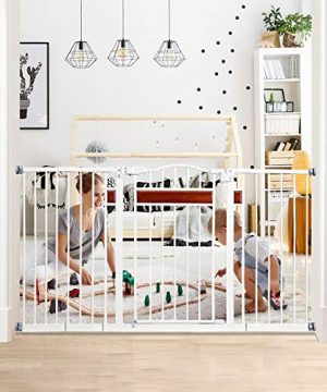 58 inch Extra Wide Walk Thru Baby gate for Doorways and Stairs