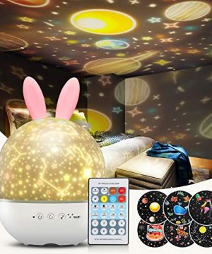 Night Light Projector for Kids, Baby Bunny Night Lamp