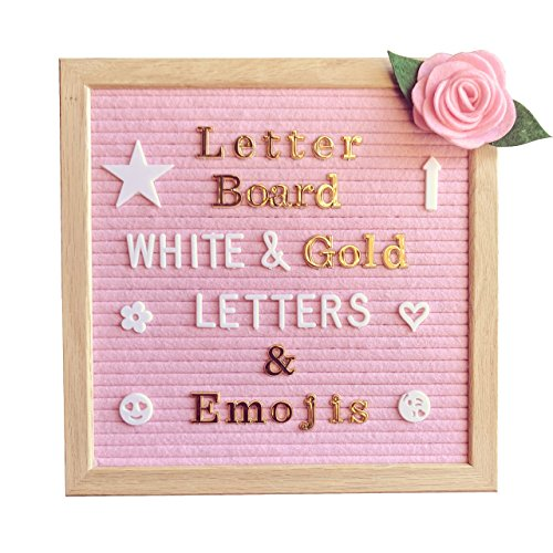 Pink Felt Letter Board 10x10 Inches – Changeable
