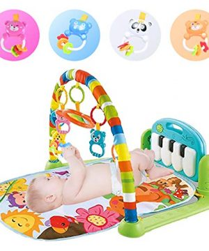 Baby Play Mat Activity Gym with 5 Hanging Toys
