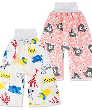2 Packs Waterproof Diaper Pants Potty Training