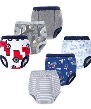 BIG ELEPHANT Baby Boys' Toddler Potty 6 Pack