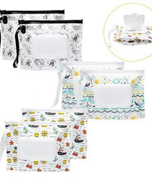 6Pcs Portable Wet Wipe Pouch Containers for Babies