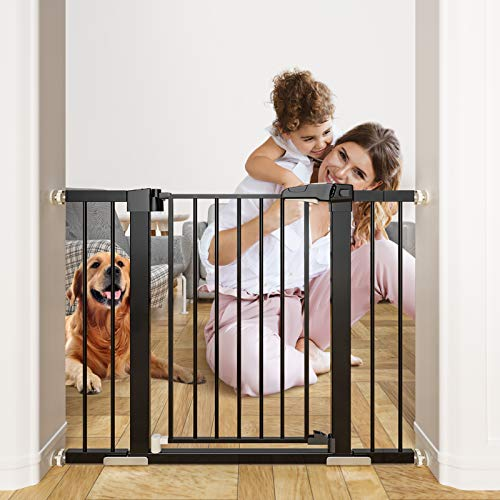 OTTOLIVES Metal Baby Gate Pet Gate 27-40 Inch