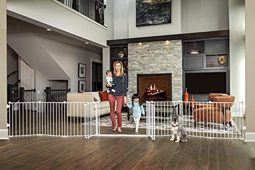 Regalo 192-Inch Double Door Super Wide Adjustable Baby Gate