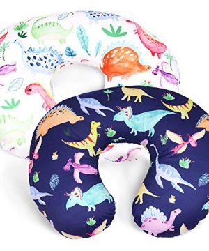 Dinosaur Nursing Pillow Cover Set for Baby Boys or Girls