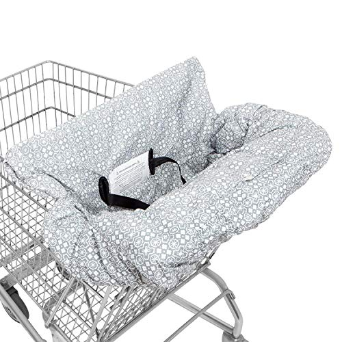 Waterproof 2-in-1 Baby Shopping Cart Cover, High Chair Covers