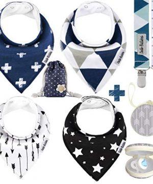 Babies Baby Bandana Drool Bib Set Soft Absorbent Cotton