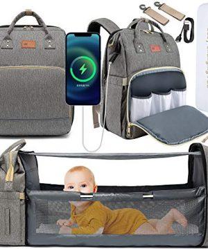 DEBUG Baby Diaper Bag Backpack with Foldable Crib