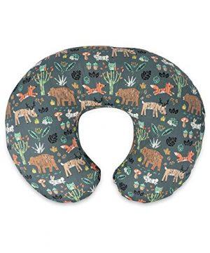 Boppy Original Nursing Pillow, Positioner, Green Forest Animals
