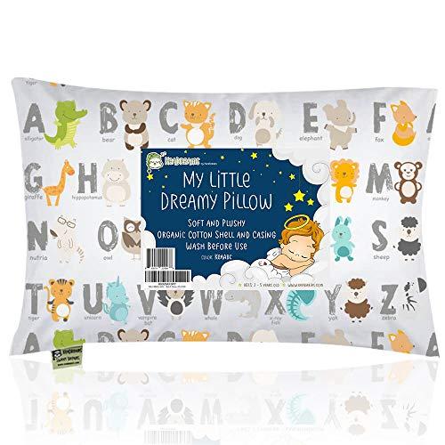 Toddler Pillow with Pillowcase - 13X18 Soft Organic Cotton