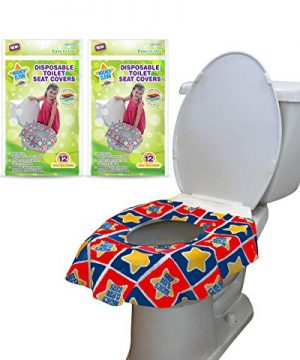 24 Large Disposable Toilet Seat Covers - Portable Potty Seat Covers