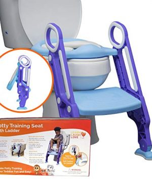 Potty Training Seat with Ladder - Potty Step Stool for Toddlers Fits