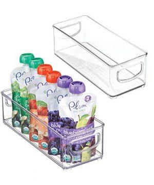 mDesign Baby Food Kitchen Refrigerator Cabinet