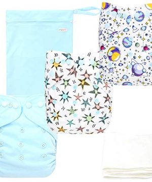 Langsprit Baby Cloth Diaper with Highly Absorbent Bamboo Inserts