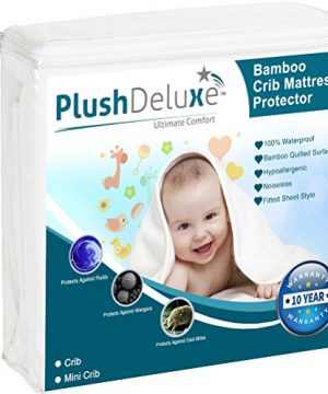 Crib Mattress Protector 100% Waterproof, Hypoallergenic