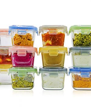 Reusable Baby Food Storage Containers with Lids