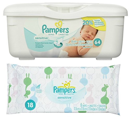 Pampers Baby Wipes Tub, Sensitive