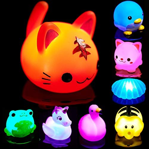 Bath Toys for Toddlers Baby 8 Pack Light Up Toys