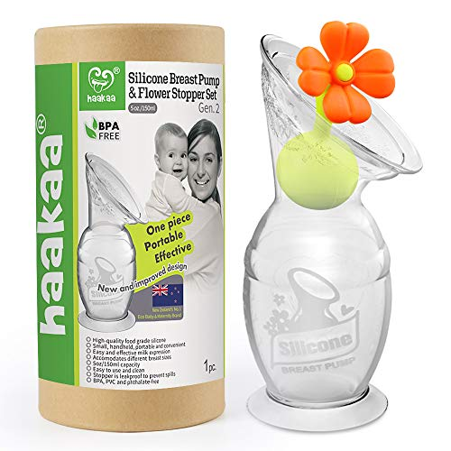 Breast Pump with Suction Base and Flower Stopper