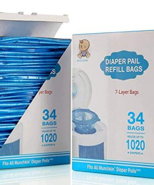 Diaper Pail Refill Bags, Fully Compatible with Arm