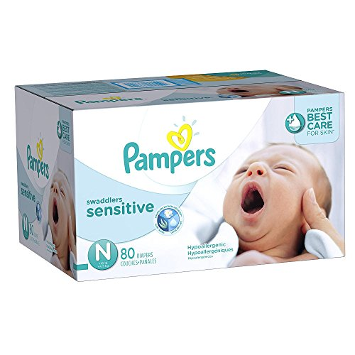 Newborn Pampers Swaddlers Sensitive Disposable Baby Diapers