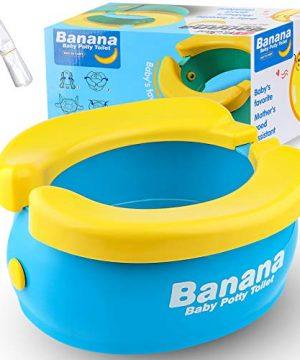 Travel Potty, Tinabless Portable Folding Reusable Banana Travel