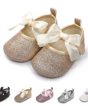 Baby Girls Shoes Non-Slip Bowknot Princess Dress